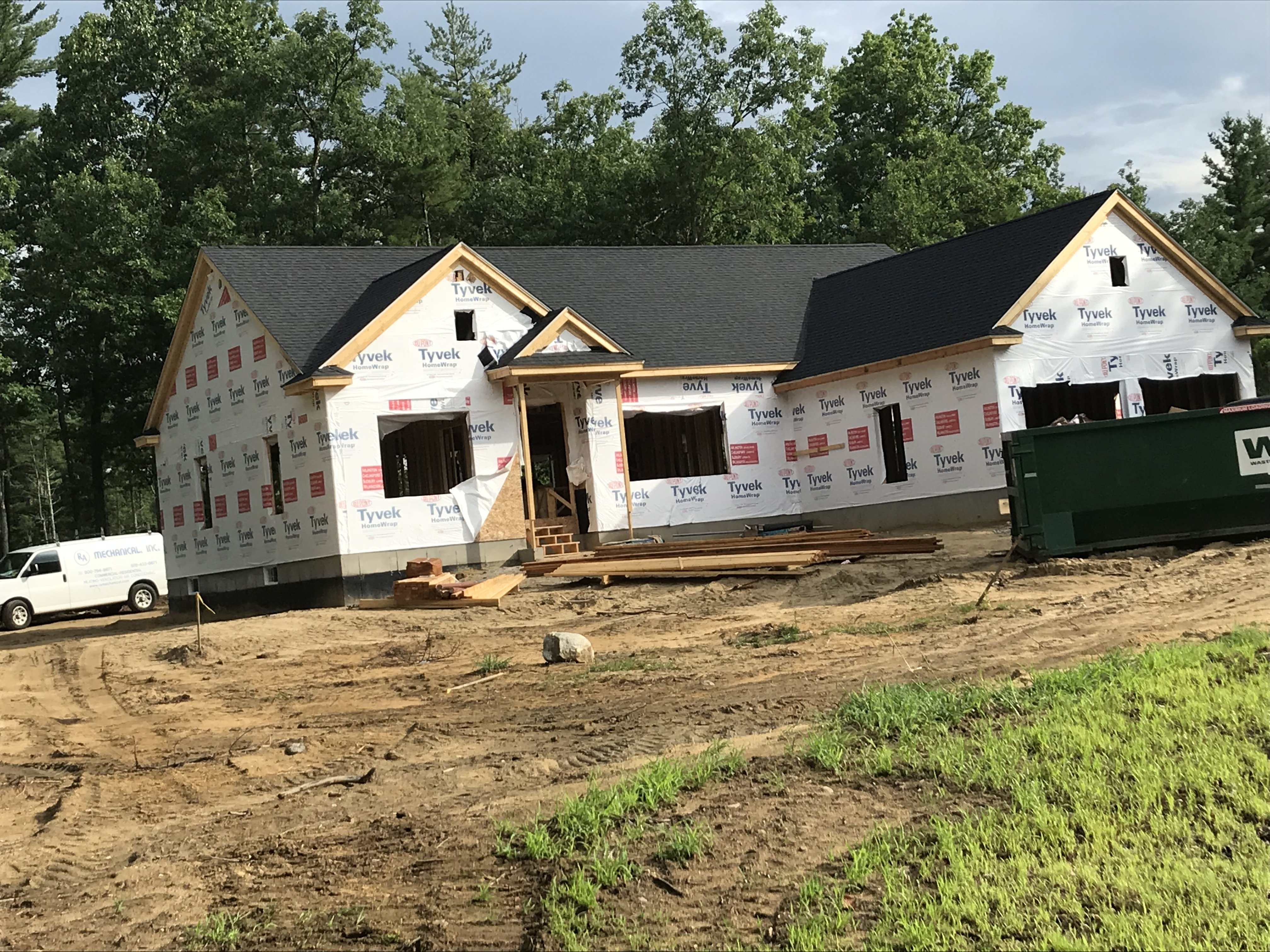 New construction roof install in Litchfield NH | ASAP Roofing NH