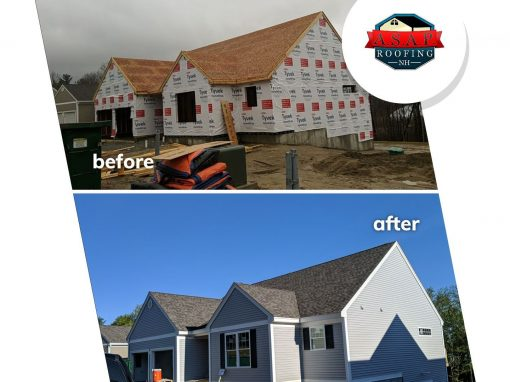 Before & After: Residential Roofing in Milford NH by ASAP Roofing