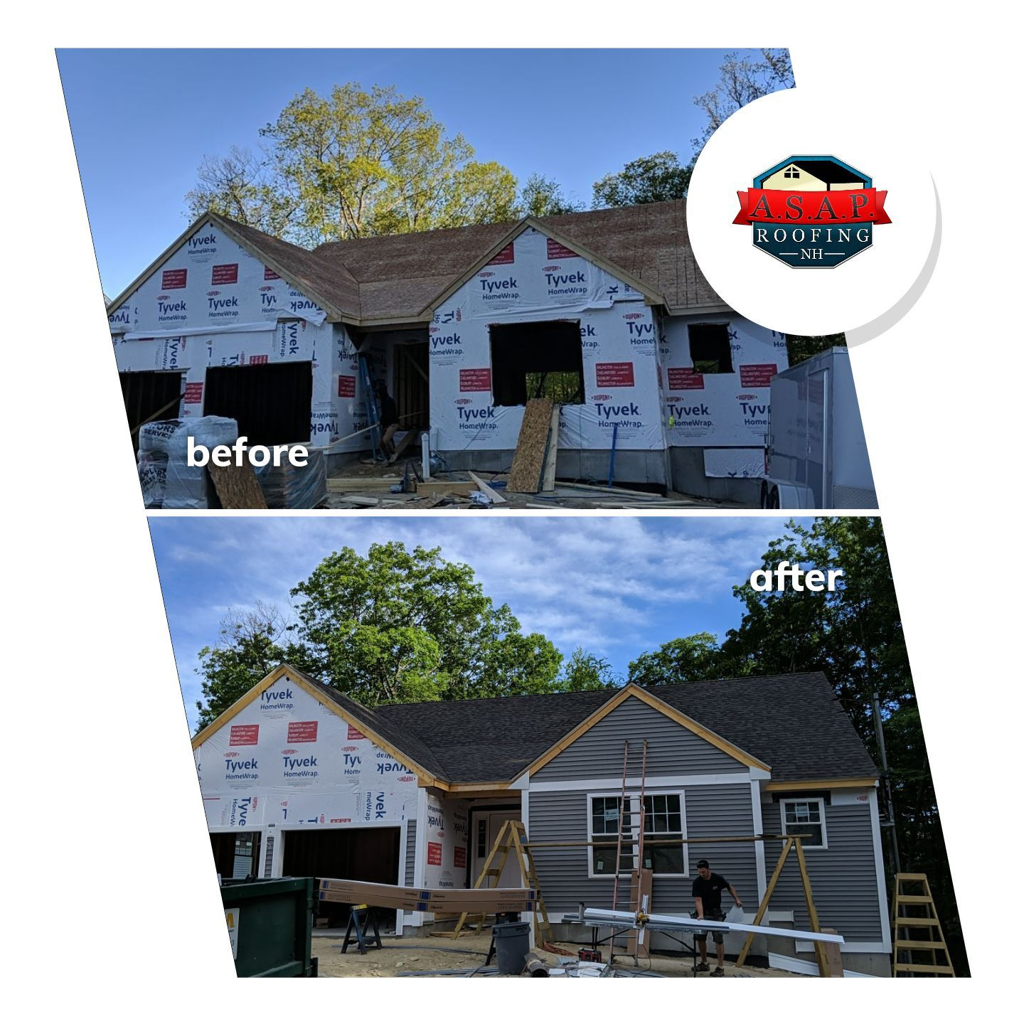 Residential Roofing, New Construction in Milford NH