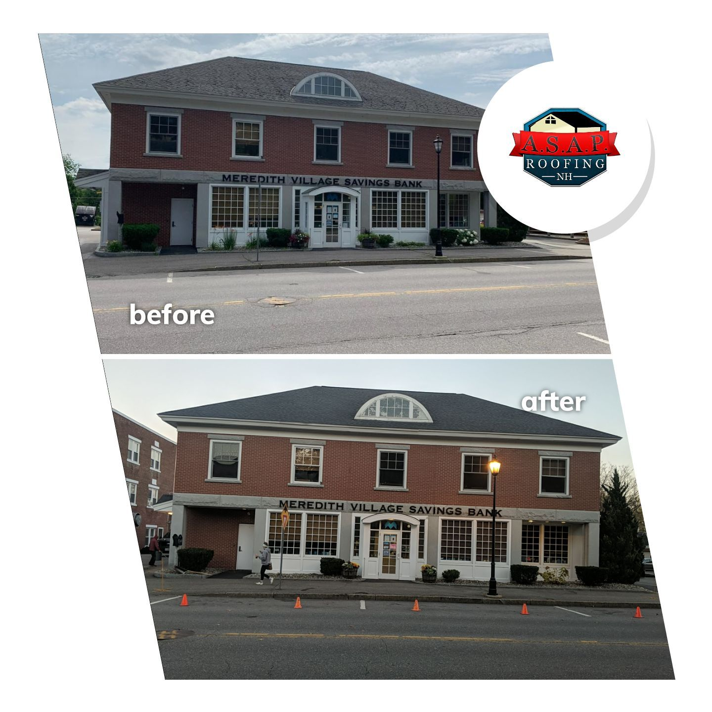 Commercial Roofing, Meredith Savings Bank in Plymouth NH