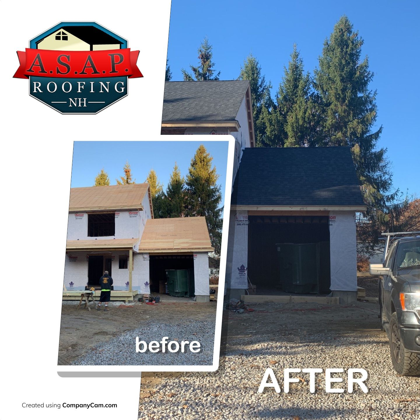 Residential Roofing New Construction in Manchester NH by ASAP Roofing