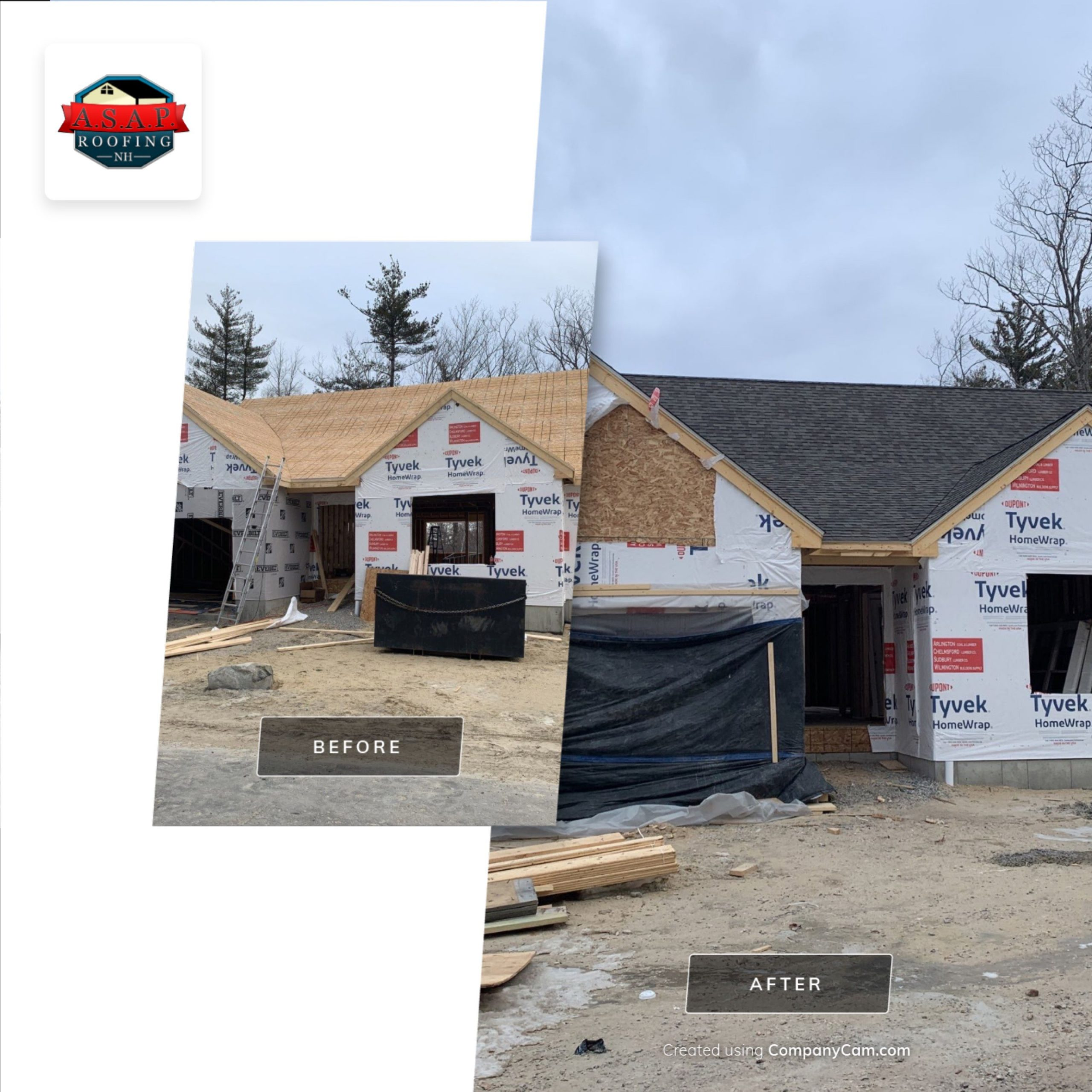 Residential Roofing, New Construction in Milford, NH